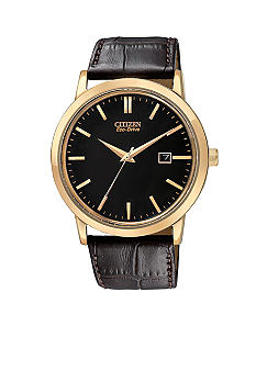 Citizen Eco-Drive Rose Gold Tone Date Strap Watch