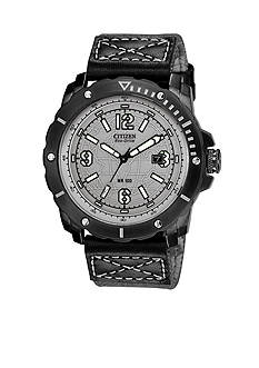 Drive from Citizen Eco-Drive Men's WDR Black IP Chronograph Strap with Globe Dial Watch