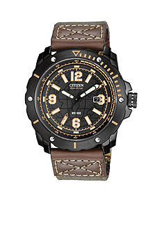 Drive from Citizen Eco-Drive Men's Black Ion Plated Chronograph Strap Watch