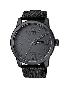 Citizen Eco-Drive Black Ion Plated Watch