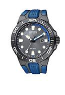 Citizen Eco-Drive Black Ion Plated Scuba Fin Watch
