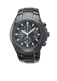 Citizen Eco-Drive Men's Black Ion Plated Titanium Chronograph Watch