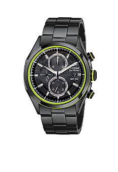 Citizen Men's Drive Black Ion Plated Chronograph Watch