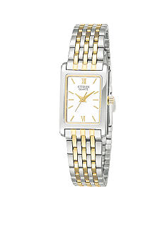 Citizen EDV Ladie's Square Two Tone Watch