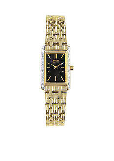 Citizen EDV Quartz Women's Gold Tone Swarovski® Crystal Bezel Watch
