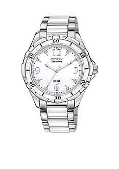 Citizen Eco-Drive Women's Ceramic and Stainless Steel with Diamonds Watch