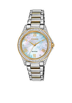 Drive from Citizen Eco-Drive Women's Two Tone Stainless Steel Swarovski Watch