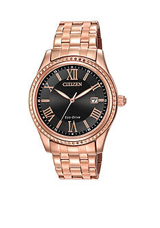 Drive from Citizen Eco-Drive Pink Gold-Tone Stainless Steel Watch