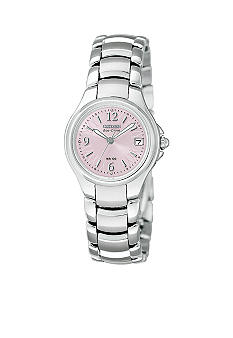 Citizen Ladies Stainless Steel Round Pink Dial