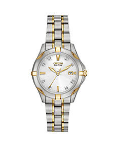 Drive from Citizen Eco-Drive Women's Two Tone Stainless Steel with Diamond Dial Watch
