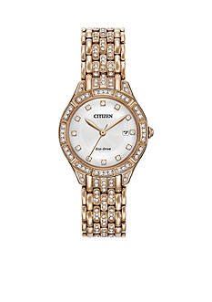 Women's Citizen Eco-Drive Silhouette Crystal Watch