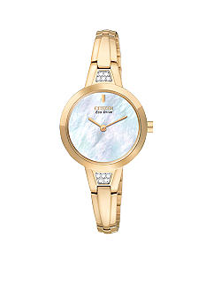 Citizen Eco-Drive Rose Gold Tone Bangle Watch