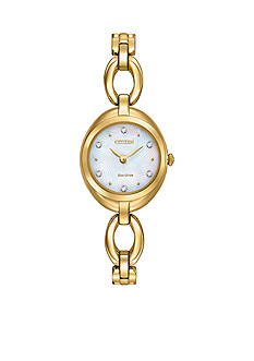 Citizen Women's Eco-Drive Silhouette Gold-Tone Watch
