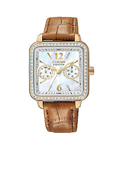 Citizen Eco-Drive Rose Gold Tone Strap Watch