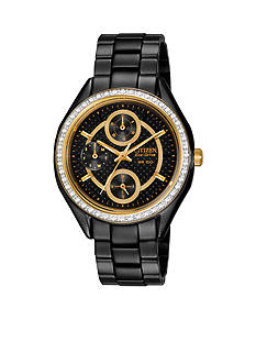 Drive from Citizen Eco-Drive Women's Black Ion Plated Stainless Steel with Swarovski Crystal Watch