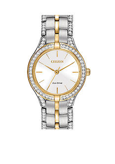 Citizen Eco-Drive Women's Two-Tone Silhouette Crystal Watch