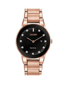 Citizen Eco-Drive Women's Rose Gold-Tone Axiom Watch
