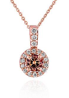 Belk & Co. Brown and White Diamond Ring in 14k Rose Gold