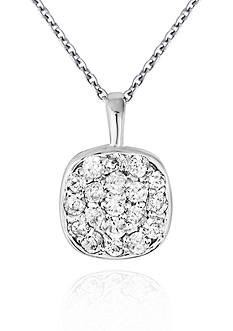 Belk & Co. Diamond Cluster Pendant in 14k White Gold