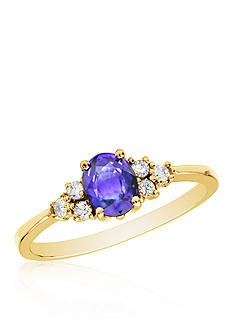 Belk & Co. 14k Yellow Gold Tanzanite and Diamond Ring