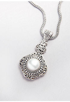 Belk & Co. Sterling Silver and 14K Mabe Pearl Pendant