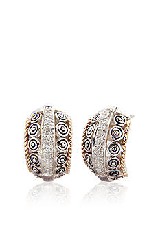 Belk & Co. Diamond Earrings in Sterling Silver with 14k Gold