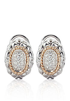 Belk & Co. 1/5 ct. t.w Diamond Earrings in Sterling Silver with 14k Gold