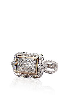 Belk & Co. Diamond Ring in Sterling Silver with 14k Gold