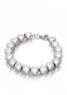 Belk & Co. Sterling Silver Beaded Bracelet