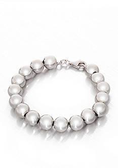 Belk & Co. Sterling Silver Beaded Bracelet