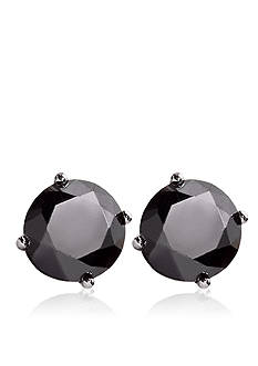 Belk & Co. 3.00 ct. t.w. Black Diamond Stud Earrings in 14k White Gold