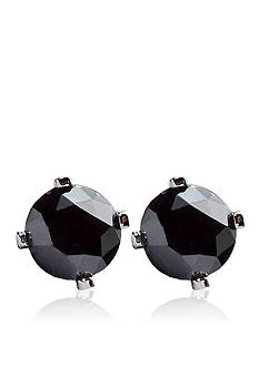 Belk & Co. 1/2 ct. t.w. Black Diamond Stud Earrings in 14k White Gold