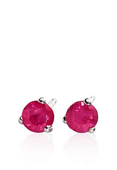 Belk & Co. 14k White Gold Ruby Stud Earrings