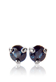 Belk & Co. 14k White Gold Sapphire Stud Earrings
