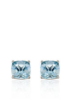 Belk & Co. 14k White Gold 6mm Aquamarine Stud Earrings