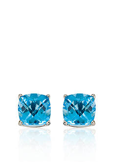 Belk & Co. 14k White Gold 6mm Blue Topaz Stud Earrings