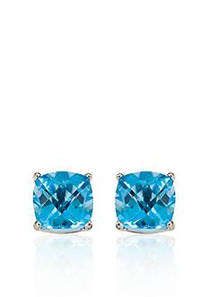 Belk & Co. 14k White Gold 6mm Blue Topaz Stud Earrings