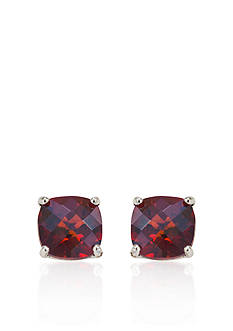 Belk & Co. 14k White Gold 6mm Garnet Stud Earrings