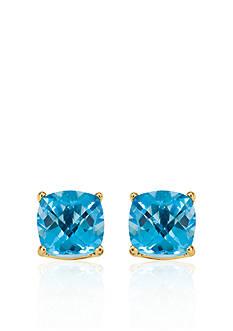 Belk & Co. 14k Yellow Gold 6mm Blue Topaz Stud Earrings