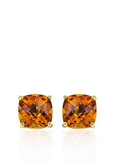 Belk & Co. 14k Yellow Gold 6mm Citrine Stud Earrings