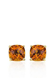 Belk & Co. 14k Yellow Gold 6mm Citrine Stud Earrings