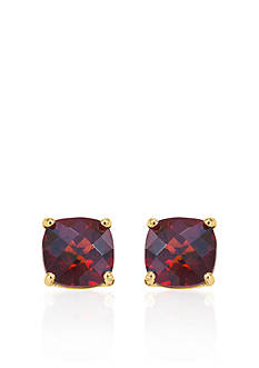 Belk & Co. 14k Yellow Gold 6mm Garnet Stud Earrings