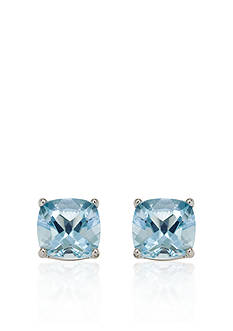Belk & Co. 14k White Gold 8mm Aquamarine Stud Earrings
