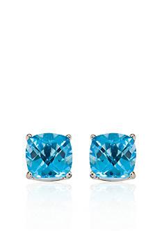 Belk & Co. 14k White Gold 8mm Blue Topaz Stud Earrings