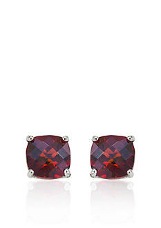 Belk & Co. 14k White Gold 8mm Garnet Stud Earrings