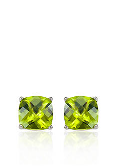 Belk & Co. 14k White Gold 8mm Peridot Stud Earrings