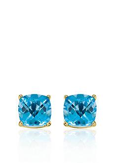 Belk & Co. 14k Yellow Gold 8mm Blue Topaz Stud Earrings