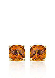 Belk & Co. 14k Yellow Gold 8mm Citrine Stud Earrings