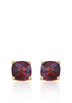 Belk & Co. 14k Yellow Gold 8mm Garnet Stud Earrings