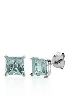 Belk & Co. 10k White Gold Aquamarine Stud Earrings